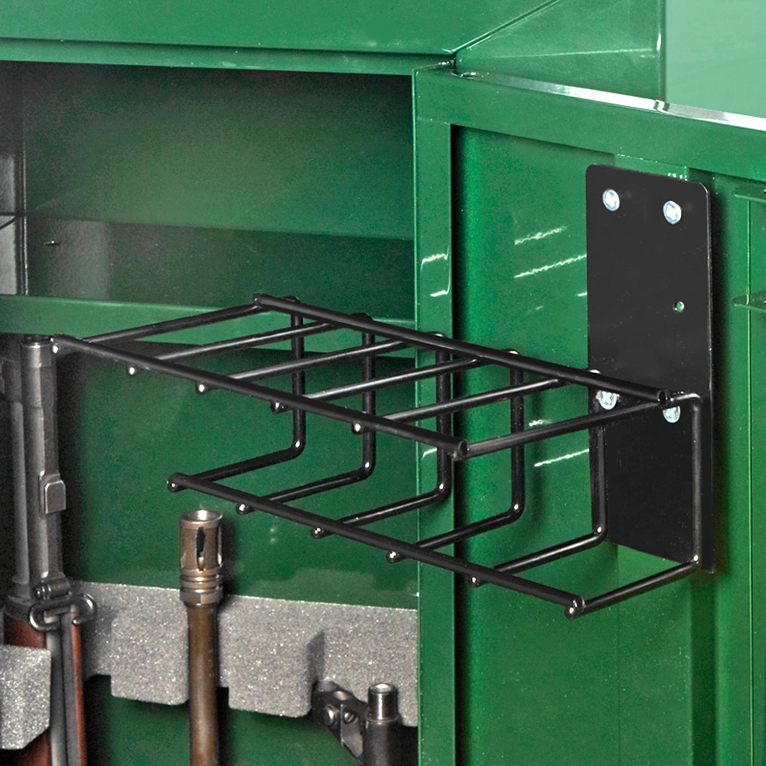 The Holster Gun Safe Rack - 5 Pistols, Black - RCKM-6024