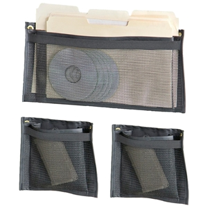 Gun Safe Rack 3 Piece Pouch Set - Nylon Mesh, Black