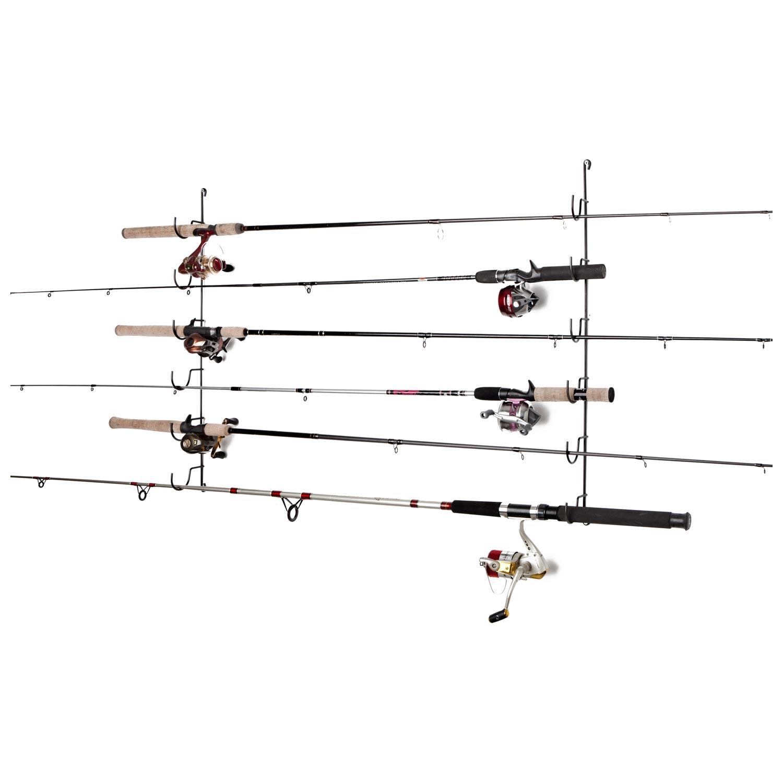 horizontal fishing rod rack