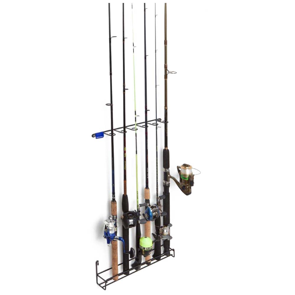 Vertical Fishing Rod Rack - Coated Wire, 6 Rods - RCKM-7010