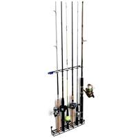 Mount Anywhere Fishing Rod Rack - Coated Wire, 6 Rods