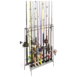 Freestanding Fishing Rod Rack - Coated Wire, 16 Rods