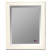 Hanging Mirror - Barnwood White & Cream Frame, Beveled Glass - RAY-R013