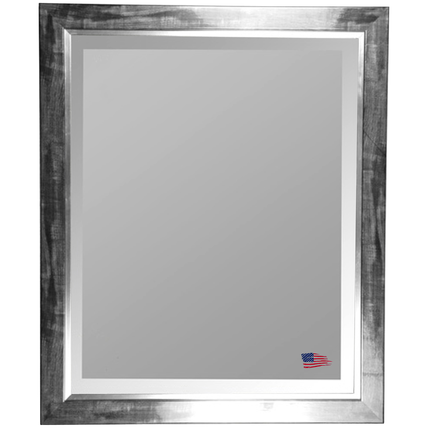 Beveled Mirror - Black Smoke Frame, Silver Liner - RAY-R006