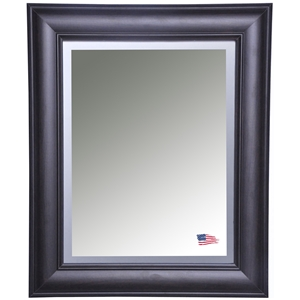 Wall Mirror   Brazilian Walnut Frame  Beveled Glass. Rayne Mirrors Free Shipping   Authorized Dealer