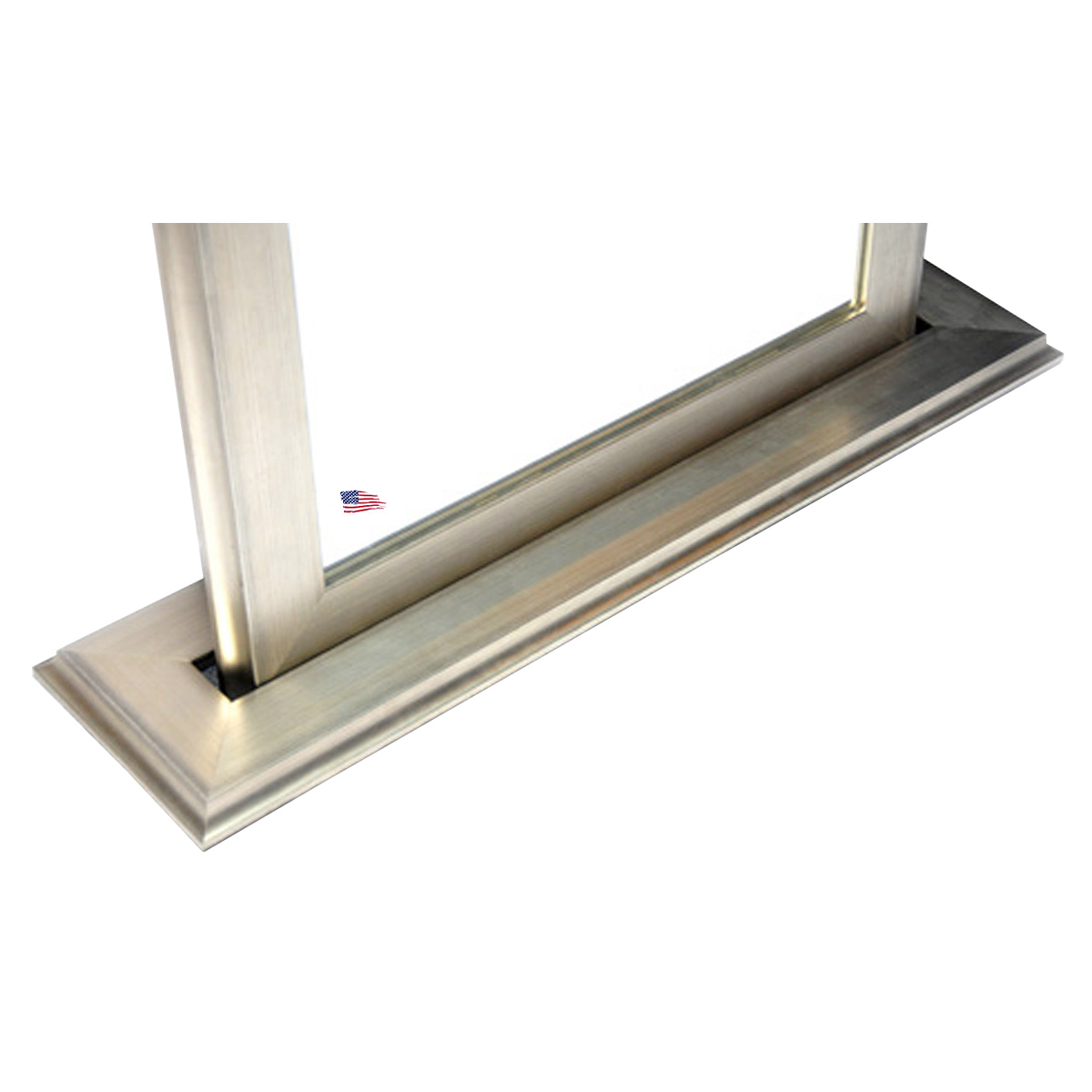 Floor mirror brushed silver frame dcg stores for Silver framed floor mirror