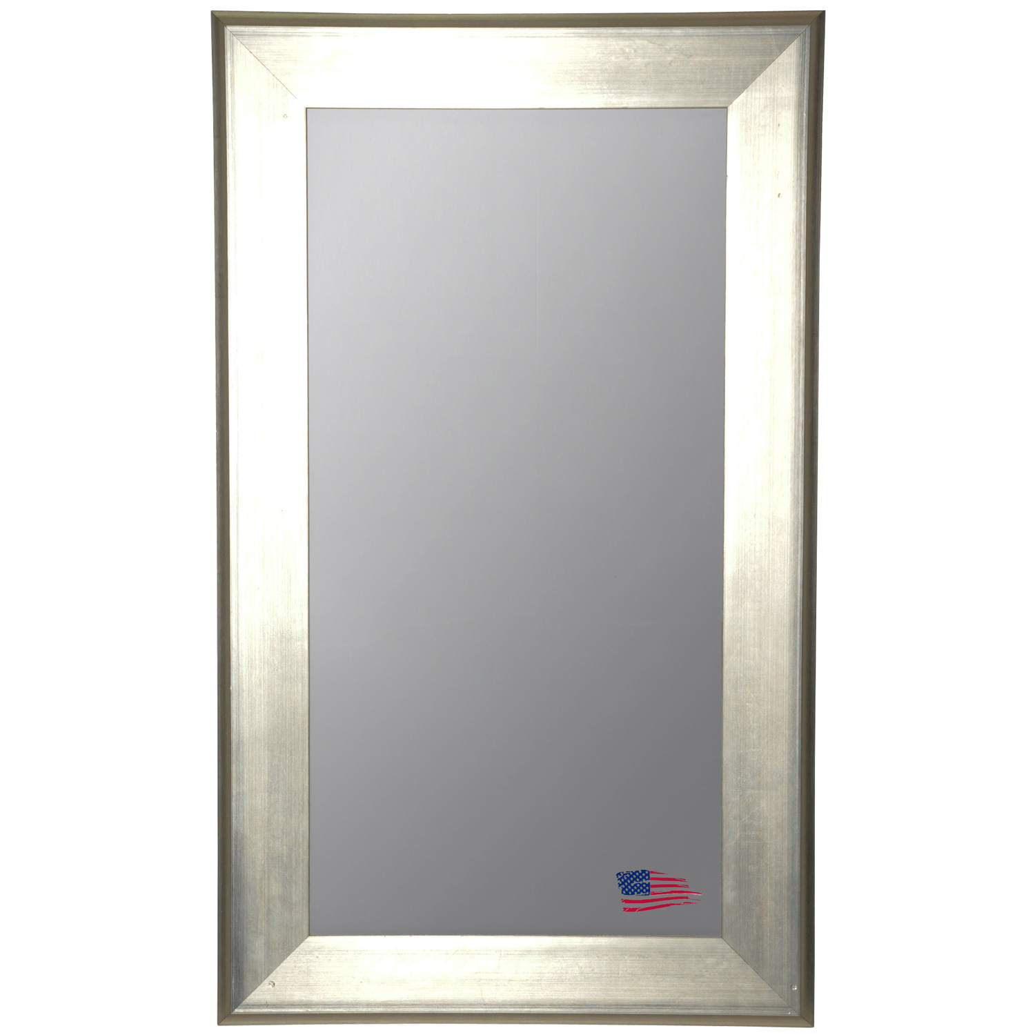 Floor Mirror - Brushed Silver Frame - RAY-R004TF