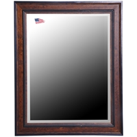 Hanging Mirror - Country Pine Finished Frame, Beveled Glass