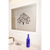 Wall Mirror - Glossy White Frame, Beveled Glass - RAY-R021