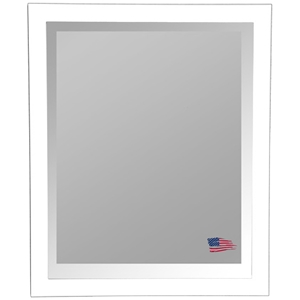 Wall Mirror - Glossy White Frame, Beveled Glass
