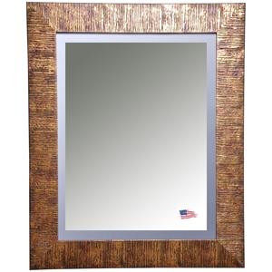 Hanging Mirror Safari Bronze Frame Beveled Glass