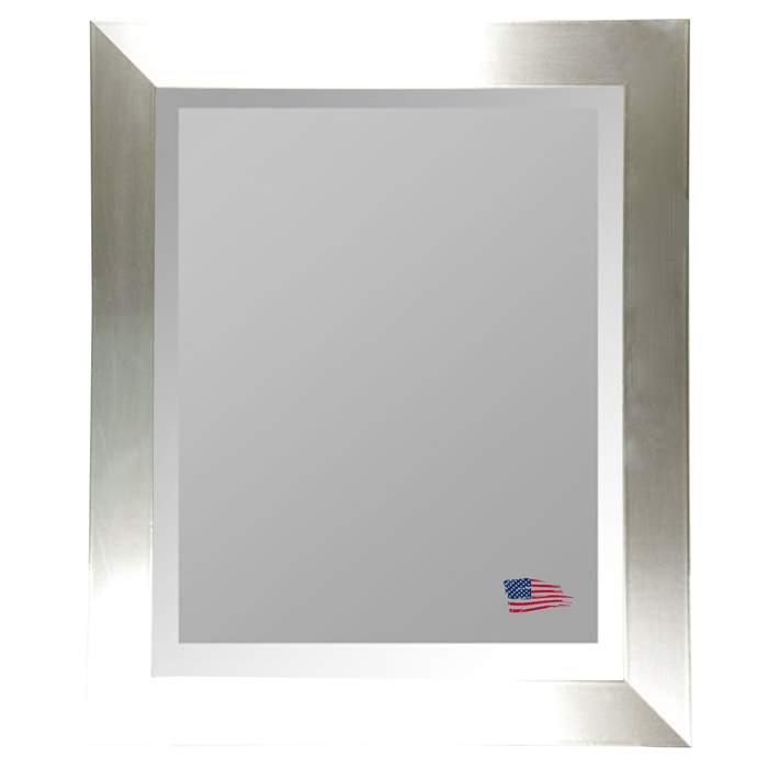 Wall Mirror - Stainless Silver Frame, Beveled Glass - RAY-R002