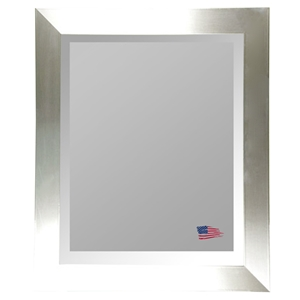 Wall Mirror - Stainless Silver Frame, Beveled Glass