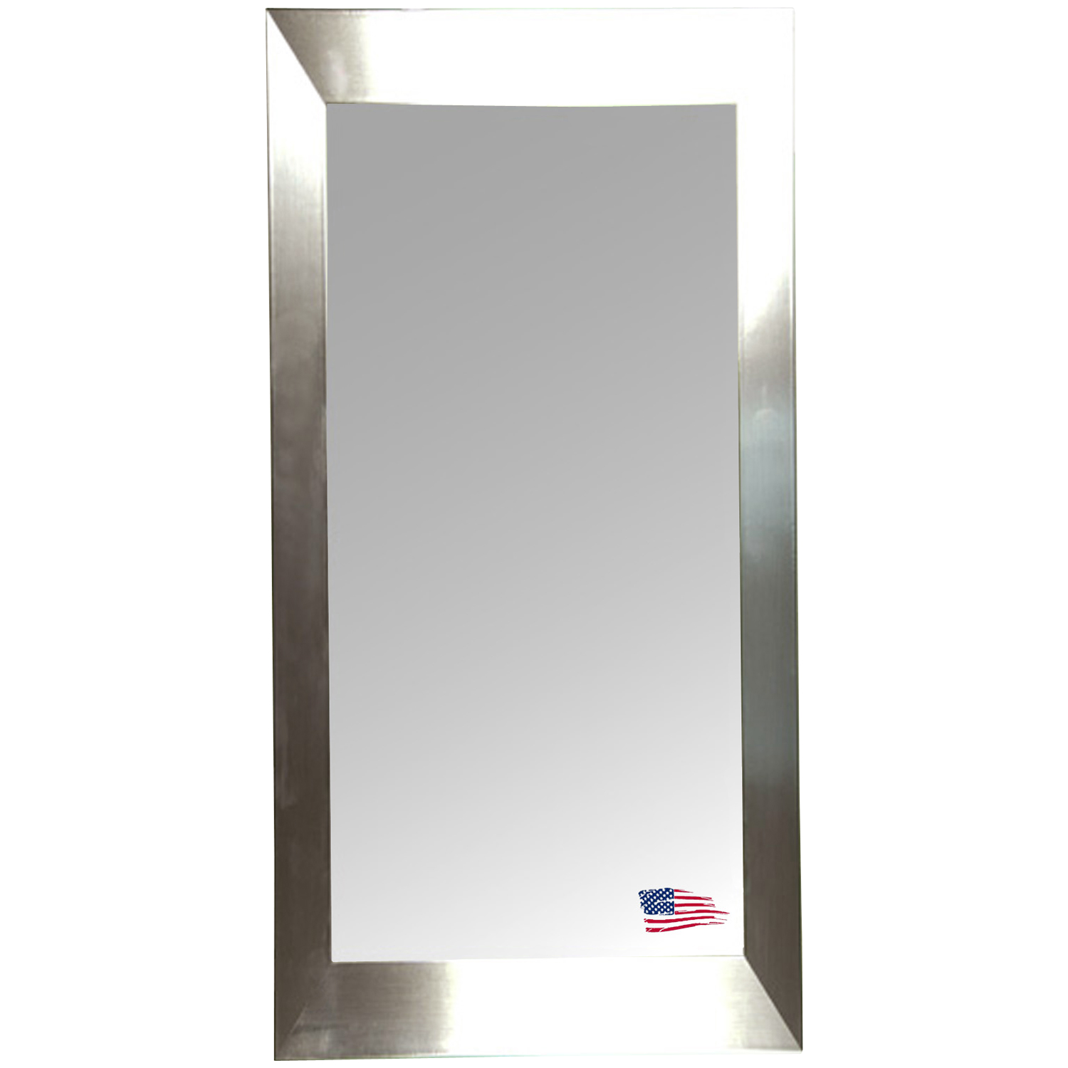 Rectangular Mirror - Stainless Silver Frame - RAY-R002T
