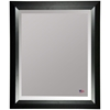 Wall Mirror - Black Angled Frame, Beveled Glass - RAY-R009