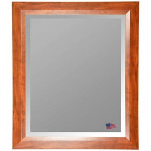Hanging Mirror   Walnut Finished Frame  Beveled Glass. Rayne Mirrors Free Shipping   Authorized Dealer