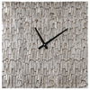 Silver Bark Wall Clock - Square