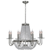 Cesano 8-Light Chandelier - Satin Nickel, Crystal Beads - RW-LPC075