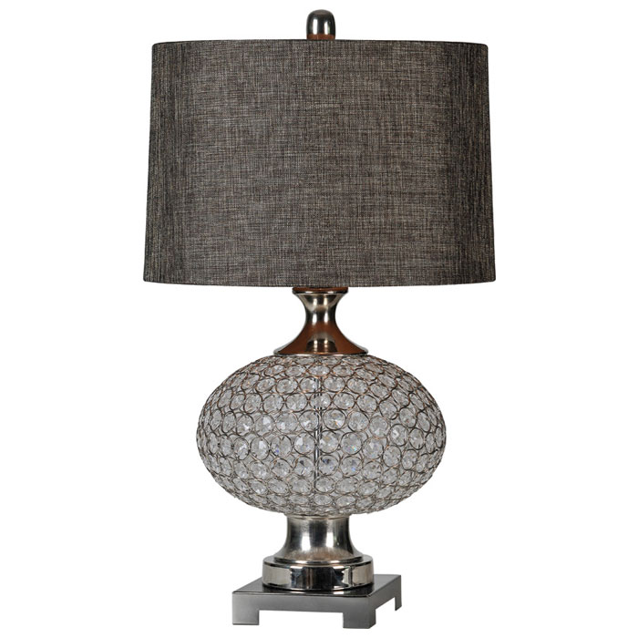 delancey table lamp crystal accents silver plated base dcg stores. Black Bedroom Furniture Sets. Home Design Ideas