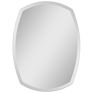 Contemporary Frameless Mirror with Bloated Sides