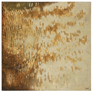 Gold Rush Oil Painting - Textured, Square Canvas