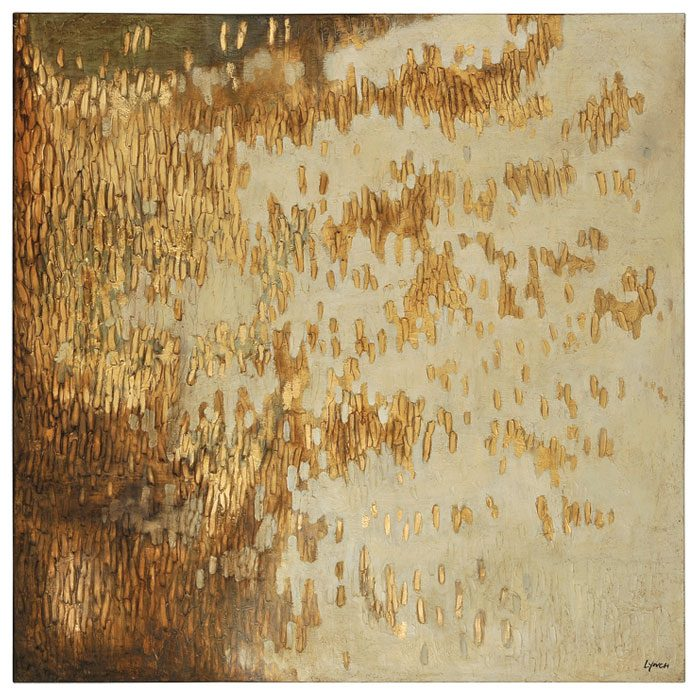 Gold rush oil painting textured square canvas dcg stores for What kind of paint to use on kitchen cabinets for textured canvas wall art