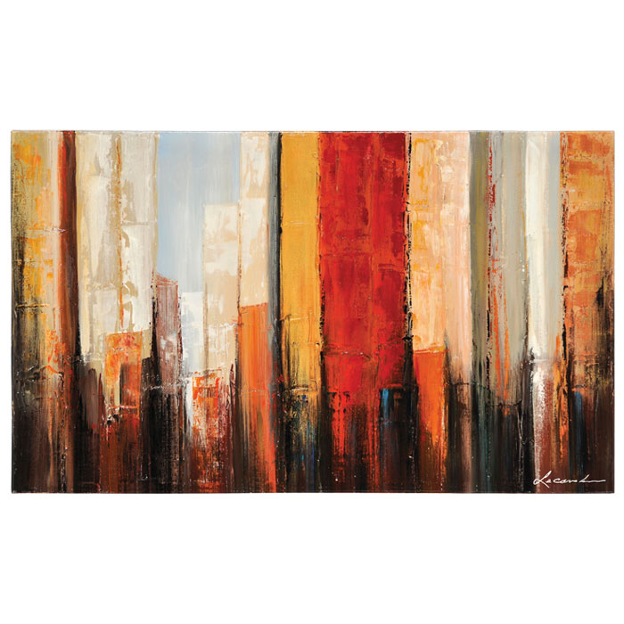 New York Morning Oil Painting Abstract Rectangular