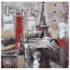Memories of Paris Oil Painting - Textured, Square Canvas