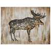 Moose II Oil Painting - Gallery-Wrapped, Rectangular Canvas