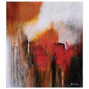 Aglow Oil Painting - Abstract Art, Rectangular Canvas