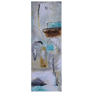 Urban Decay I Oil Painting - Abstract Art, Rectangular Canvas