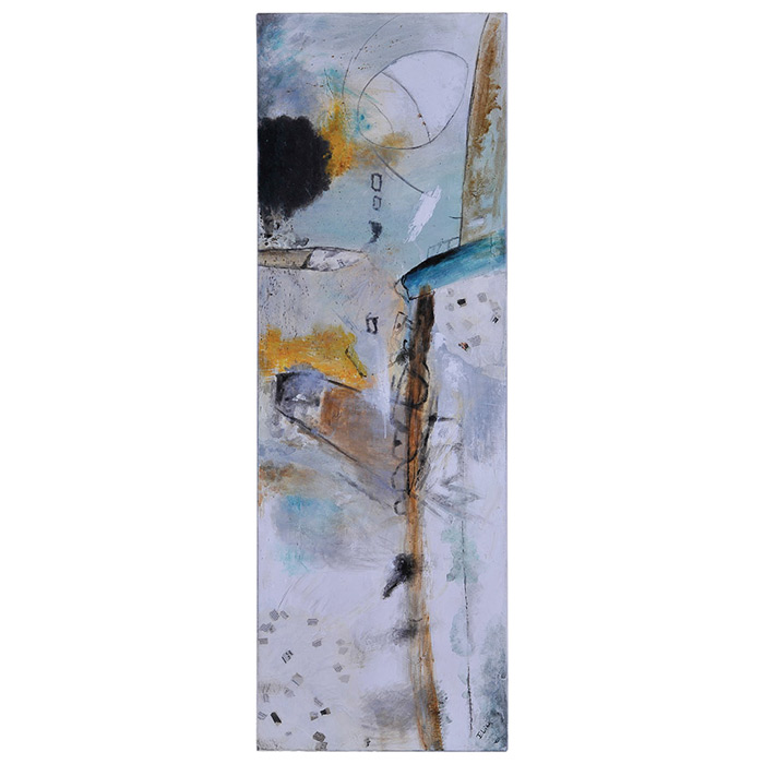 Urban decay ii oil painting abstract art rectangular for What kind of paint to use on kitchen cabinets for trendy canvas wall art