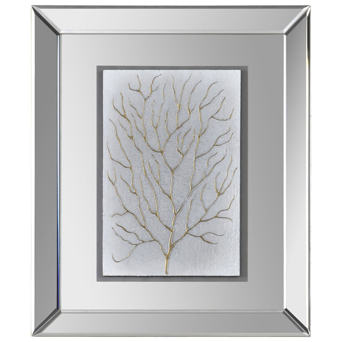 Wall Art With Mirror Frame : Branching out i wall art mirror frame rectangular dcg