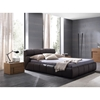 Brown Cloud Bed with Nightstands - ROS-T411602345A06-3S