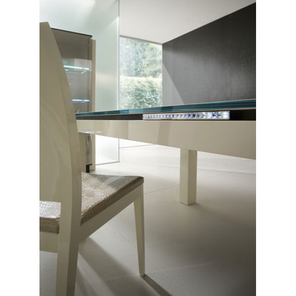 Diamond Rectangle Table with Glass Top - ROS-R9930330000XX