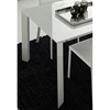 Slide White Extension Rectangle Table with Glass Top - ROS-R993047030017