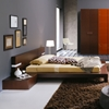 Win Wenge Light Bed with Nightstands - ROS-T2666BBAXX206-3S