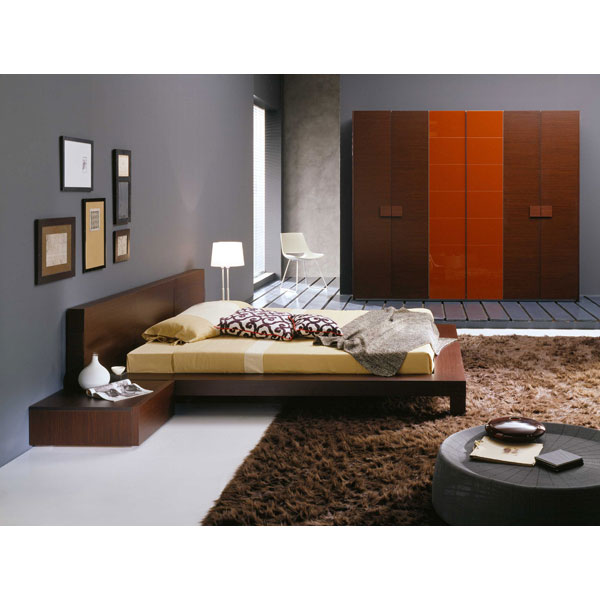 Win 5 Piece Wenge Bedroom Set - ROS-T2666BBCXX206-5S