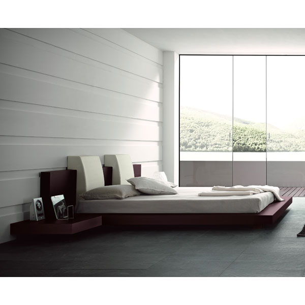 Floating Win Bed with Side Benches
