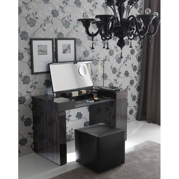 Nightfly Vanity Table with Pouf