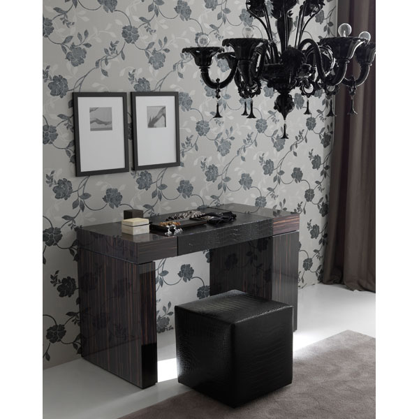 Nightfly Vanity Table with Pouf - ROS-T4127000X00XX