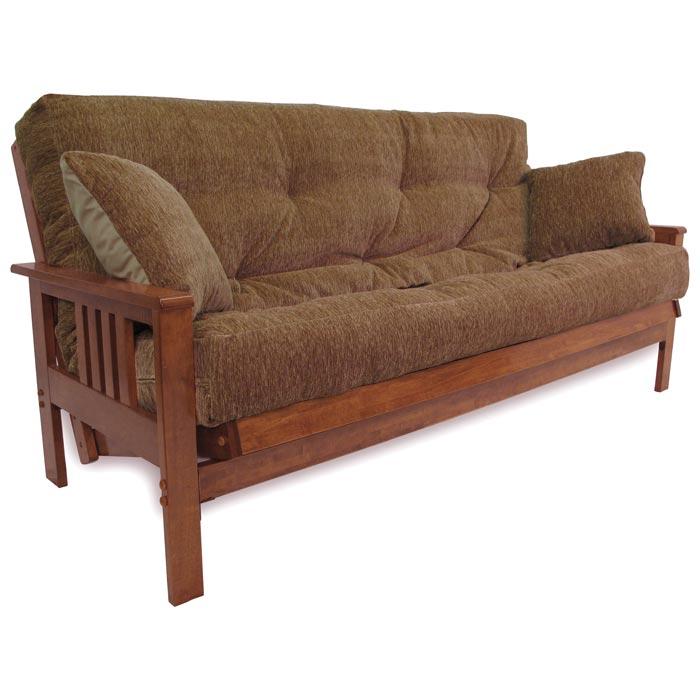 Austin wood futon frame in medium balboa dcg stores for Wood futon frames free shipping