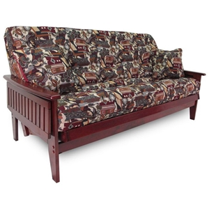 Boston Wood Futon Frame Set with Tray Arm