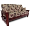 Newport Wood Futon Frame Set w/ Designer Cover & FREE Pillows - RSP-NWPRT-SET#