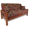 Ponderosa Wood Futon Frame Set w/ Designer Cover & FREE Pillows - RSP-PNDRS-SET#