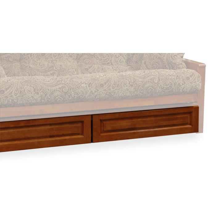 Ponderosa wood futon frame set w designer cover free for Wood futon frames free shipping