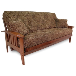 Southwest Wood Futon Frame Set w/ FREE Pillows