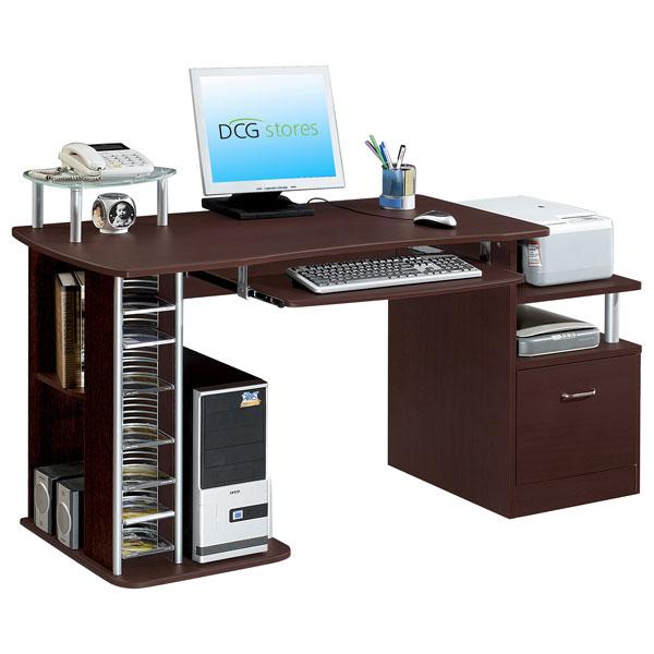 computer desk and filing cabinet dcg stores. Black Bedroom Furniture Sets. Home Design Ideas