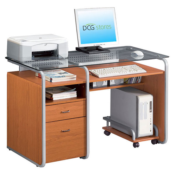 Computer Desk With Rolling Cpu Stand Dcg Stores