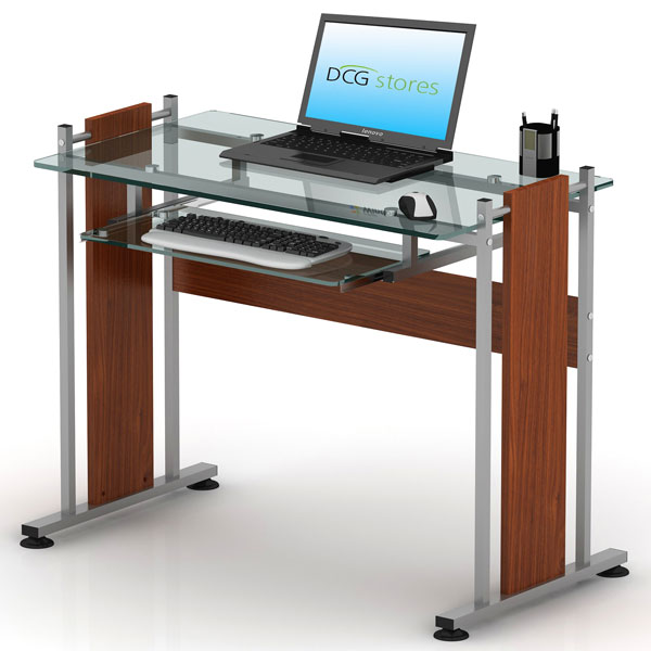compact glass computer desk dcg stores